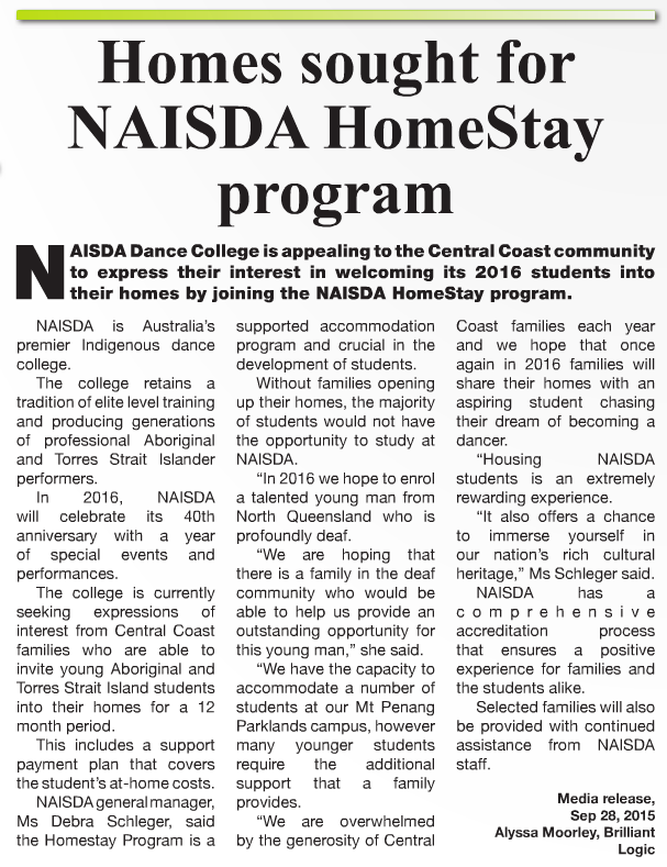 HomeStay – 21 October – Coast Community News