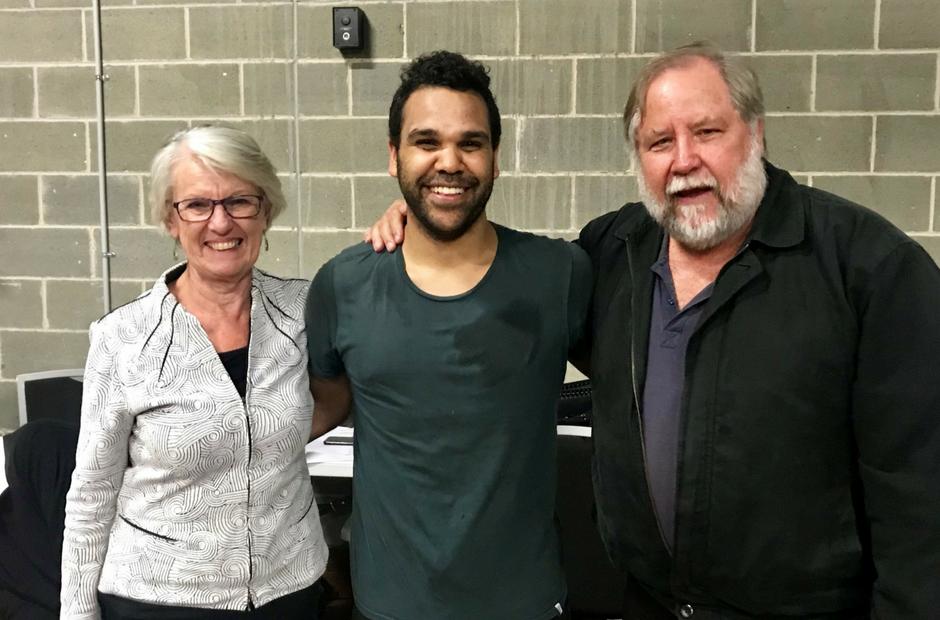 Neville Williams-Boney with Chris and Kathy Harris