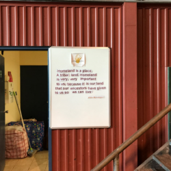 Sign at Lirrwi Tourism (transported food and equipment for NAISDA)
